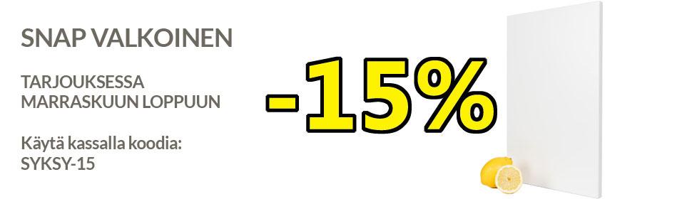 Snap valkoinen ovitarjous -15%